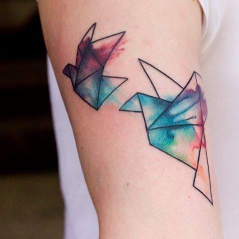 origami tatouage