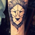 Origami tattoo lion
