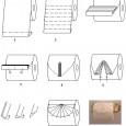 Origami toilet paper instructions