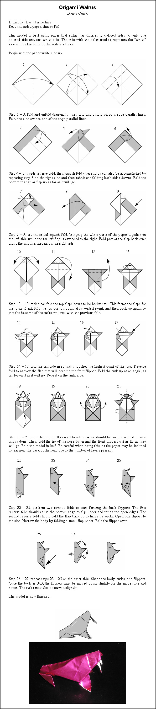 origami triceratops instructions