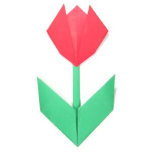 origami tulip instructions easy