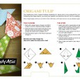 Origami tulip step by step