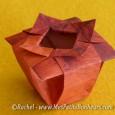 Origami vase facile