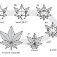 Origami weed leaf