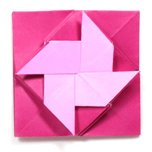 origami windmill letter fold