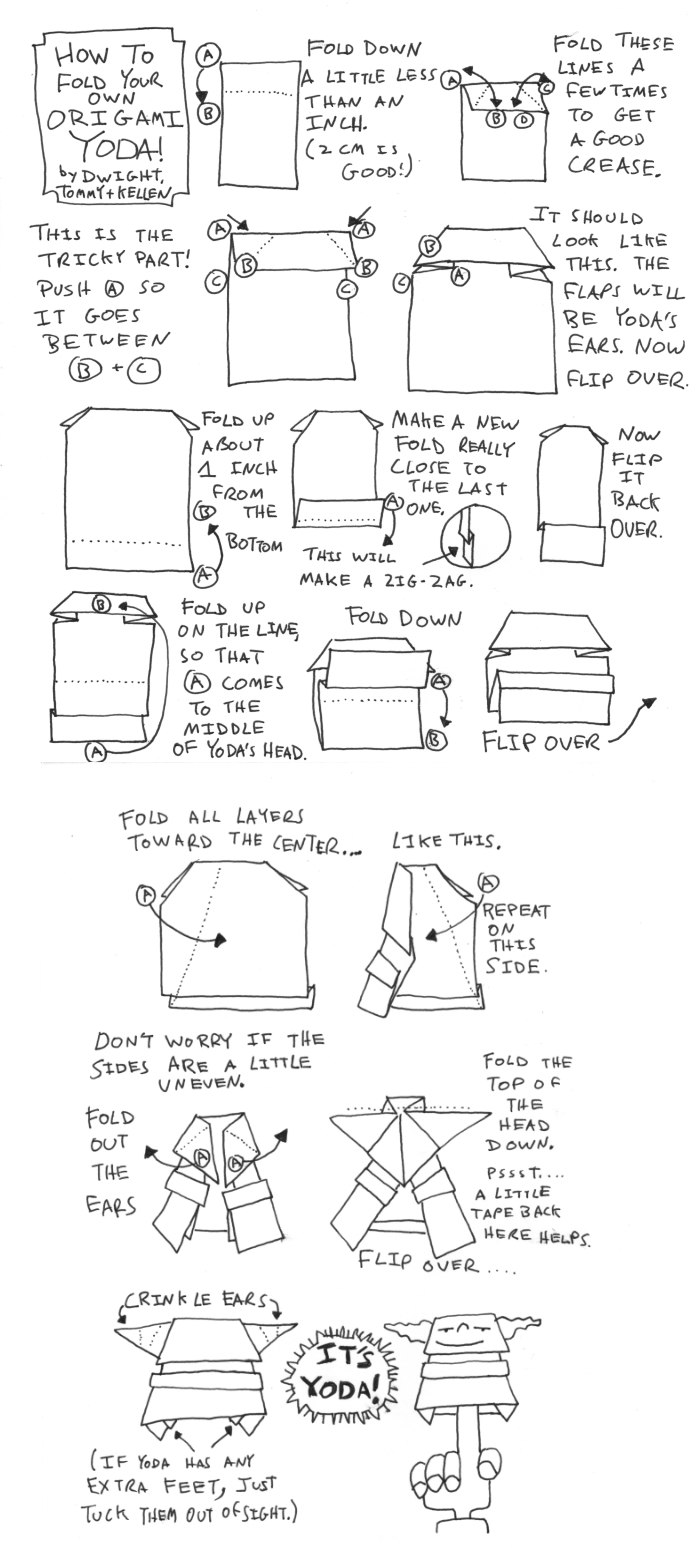 origami yoda instructions from the book