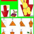 Panier de paques en origami