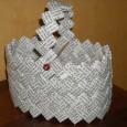 Panier en papier pliage