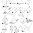 Paper cranes origami instructions