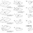 Paper origami plane