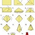 Papier origami rose