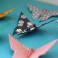 Papillon origami papier