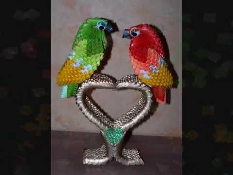 perroquet origami 3d