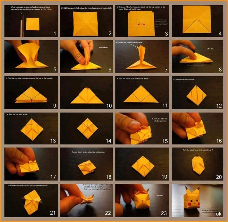 Paper Pokemon  Origami Charmander Tutorial Henry Phạm