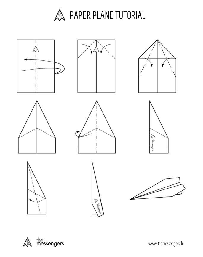 Pliage Avion Papier A4