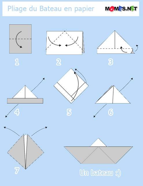 bateau origami facile