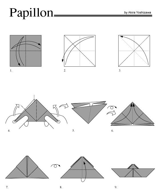 Pliage Origami Facile Papillon