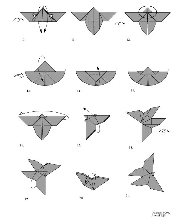 Pliage Origami Papillon