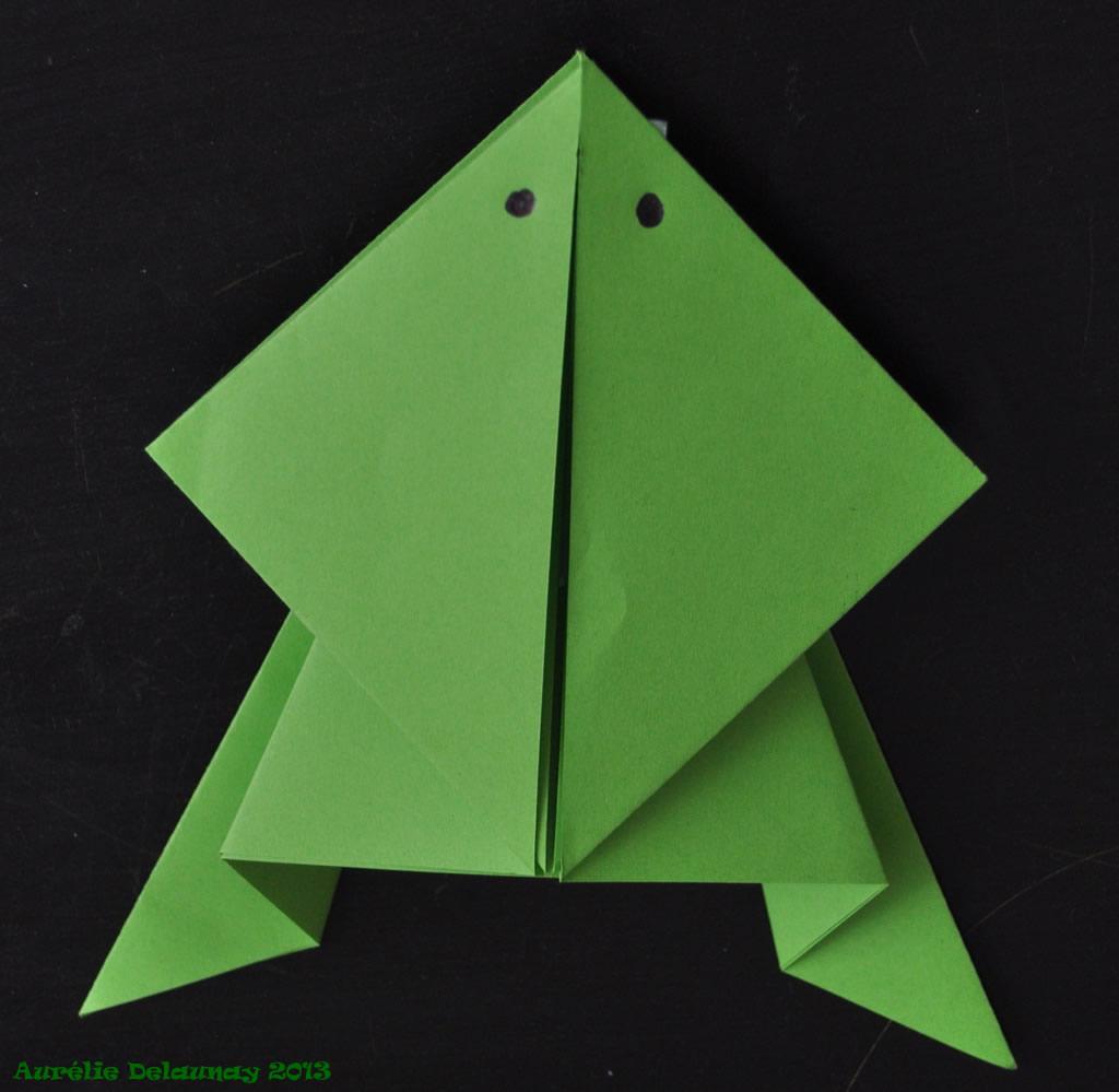 pliage papier grenouille