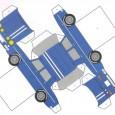 Pliage voiture en papier
