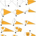 Simple origami animal