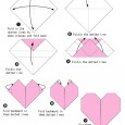 Simple origami hearts