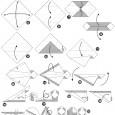 Simple origami panda