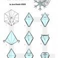Simple origami snowflake