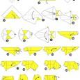 Tigre en origami