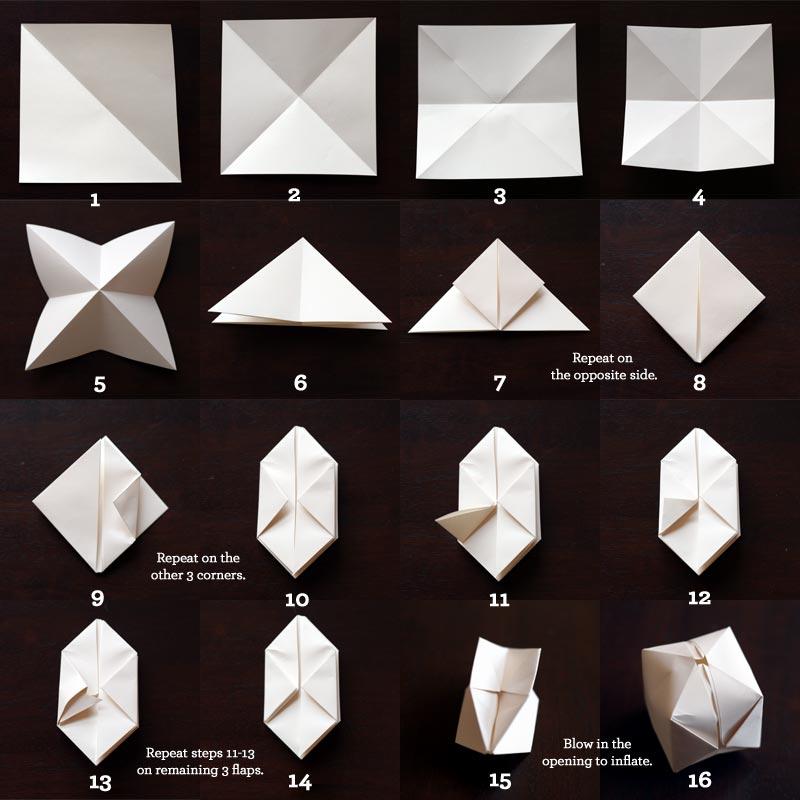 Как сделать гирлянду из бумаги оригами