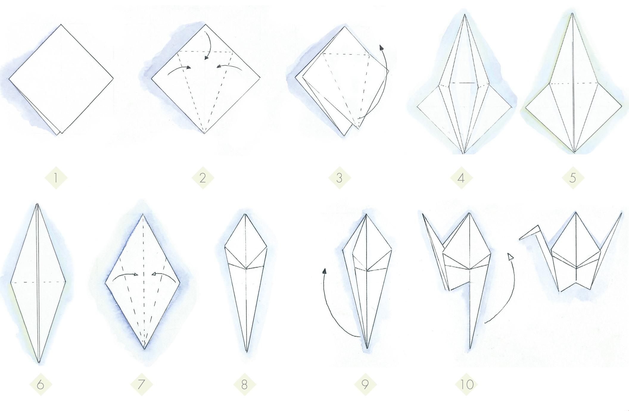 3d tatouage origami grue galerie tatouage - Origami 3d facile ...