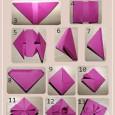 Tuto origami rose