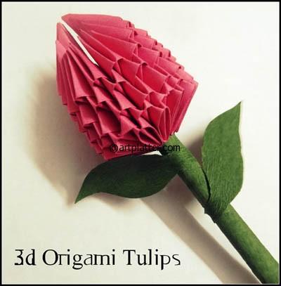 3d origami tulip instructions