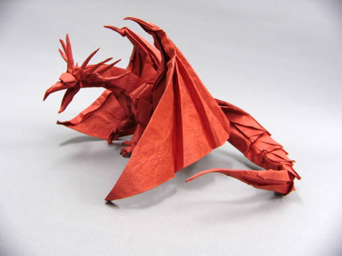 complicated origami dragon