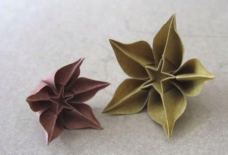difficult origami flowers