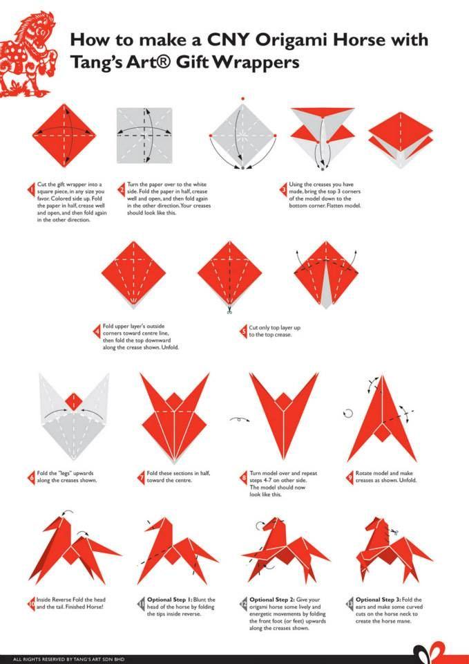 tutorial origami horse