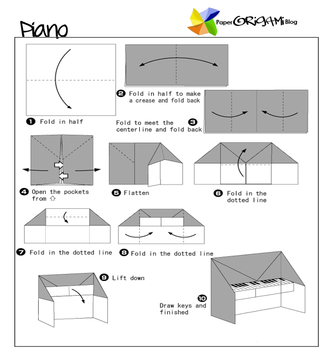how to make a origami piano