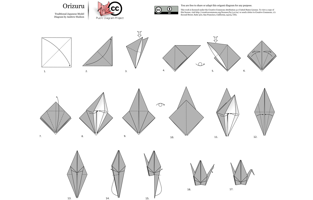 how to make an easy origami crane