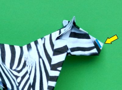 how to make an origami zebra step by step