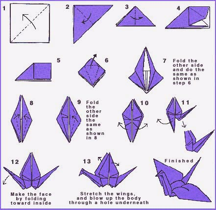 how to make origami crane easy