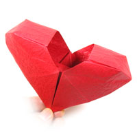 how to make origami hearts 3d