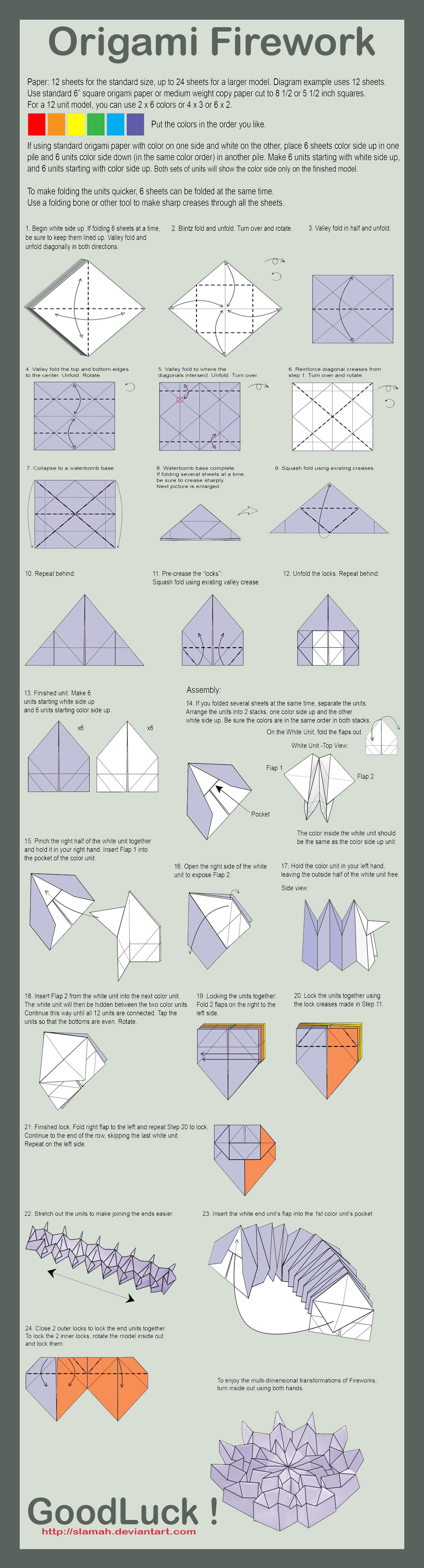 origami fireworks instructions