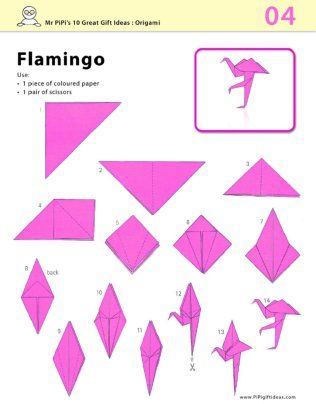 origami flamingo diagram