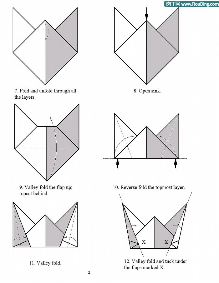 origami hat diagrams