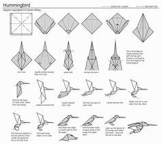 origami hummingbird diagrams