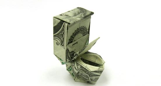 origami toilet bowl