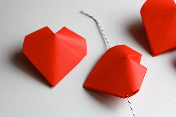paper heart origami 3d