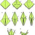 Simple origami crane for kids