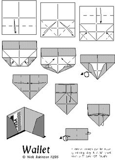 wallet origami instructions